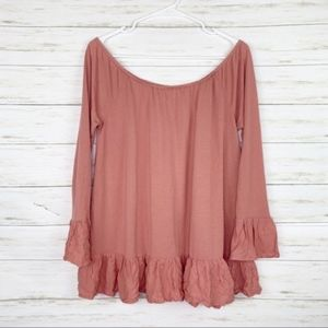Altar'd State   Blush Pink Long Sleeve Top
